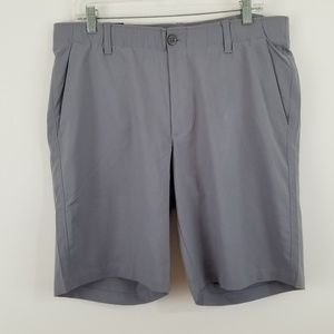 Under Armour Men's Flat Front Gray Golf Shorts 36